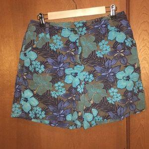 Studio Works Hawaiian flowered blue shorts